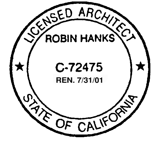 Sample of an Architect's Stamp with Renewal Date